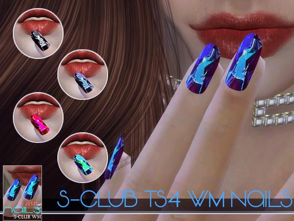 Sims 4 Nails 201703 by S Club WM at TSR