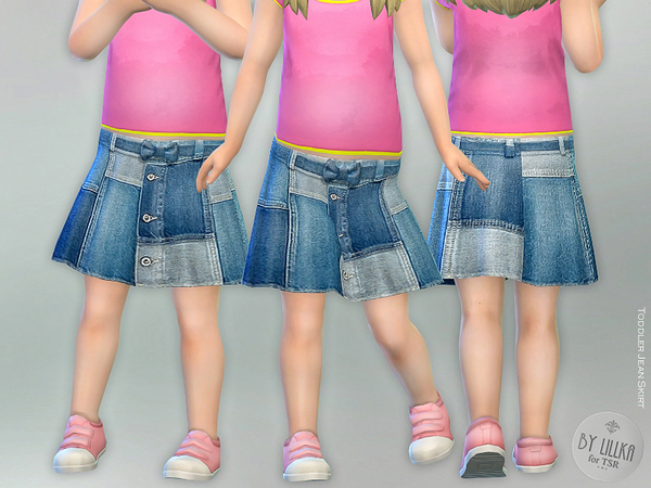 Sims 4 Toddler Jean Skirt by lillka at TSR