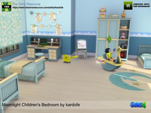 Moonlight Childrens Bedroom by kardofe at TSR image 6518 Sims 4 Updates