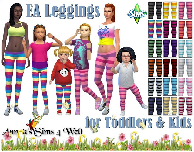 EA Leggings for Kids & Toddlers at Annett's Sims 4 Welt image 653 Sims 4 Updates