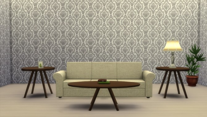 Sims 4 Damask Wallpaper by bee honey at SimsWorkshop