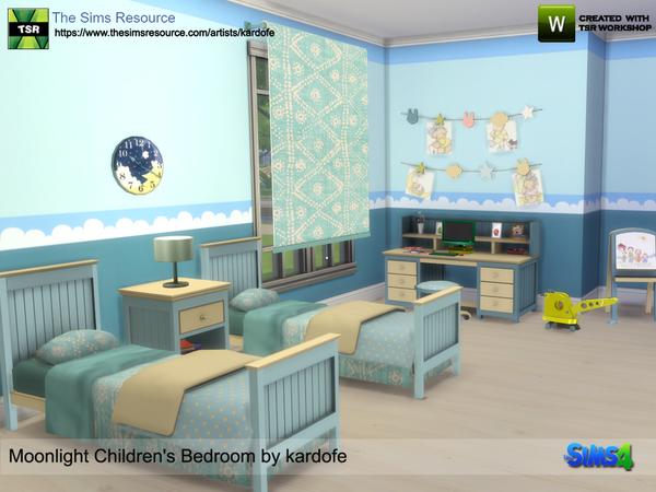 Moonlight Childrens Bedroom by kardofe at TSR image 6618 Sims 4 Updates
