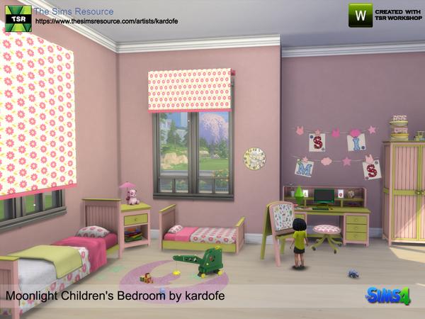 Moonlight Childrens Bedroom by kardofe at TSR image 6718 Sims 4 Updates