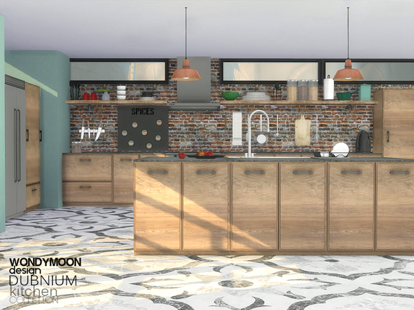 Dubnium Kitchen by wondymoon at TSR image 680 Sims 4 Updates