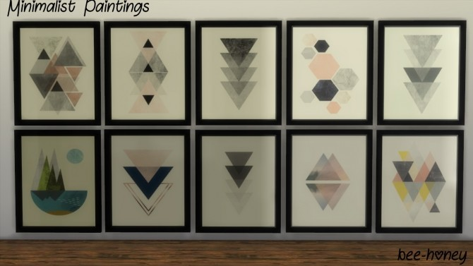 Sims 4 Minimalist Wall Art by bee honey at SimsWorkshop