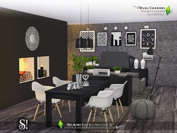 Dual Channel diningroom by SIMcredible at TSR image 690 Sims 4 Updates