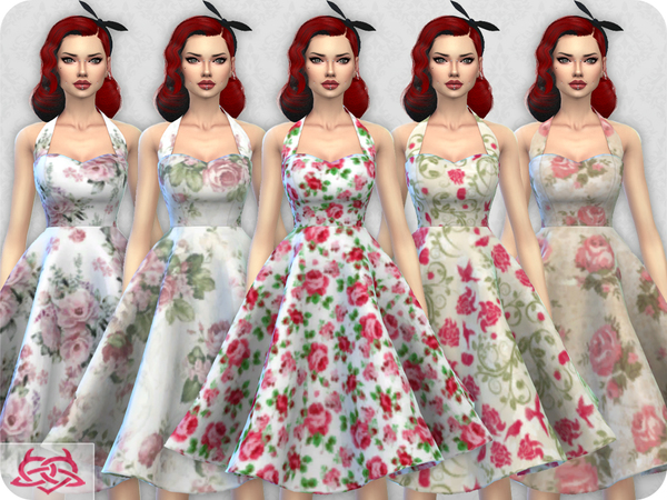 Sarah dress RECOLOR 1 by Colores Urbanos at TSR image 7017 Sims 4 Updates