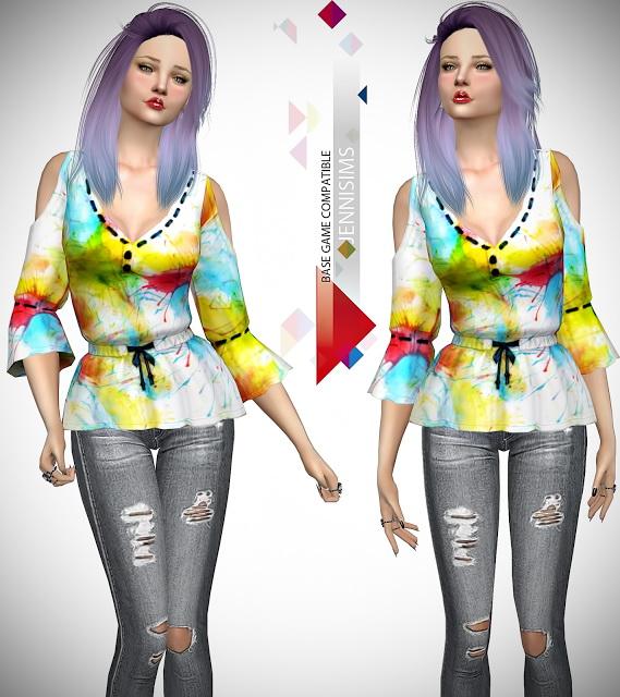 Sims 4 Base Game compatible Tops, Shirt at Jenni Sims