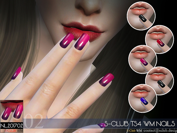Nails 201702 by S Club WM at TSR image 712 Sims 4 Updates