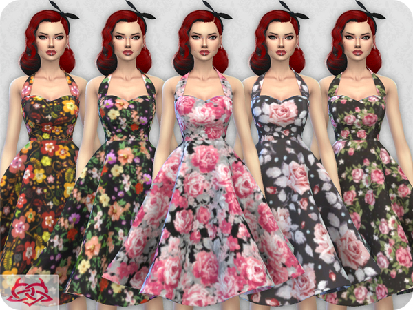Sarah dress RECOLOR 1 by Colores Urbanos at TSR image 7122 Sims 4 Updates