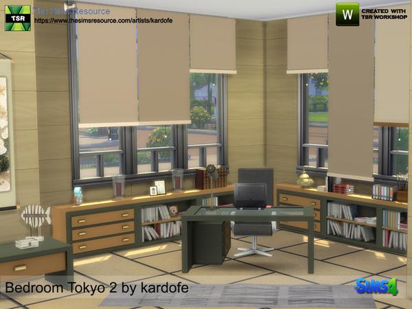 Bedroom Tokyo 2 by kardofe at TSR image 729 Sims 4 Updates