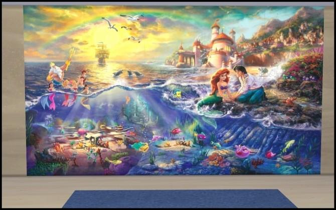 Sims 4 Wallpaper Arielle at Louisa Creations4Sims