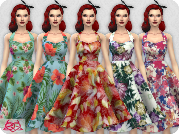 Sarah dress RECOLOR 1 by Colores Urbanos at TSR image 7318 Sims 4 Updates