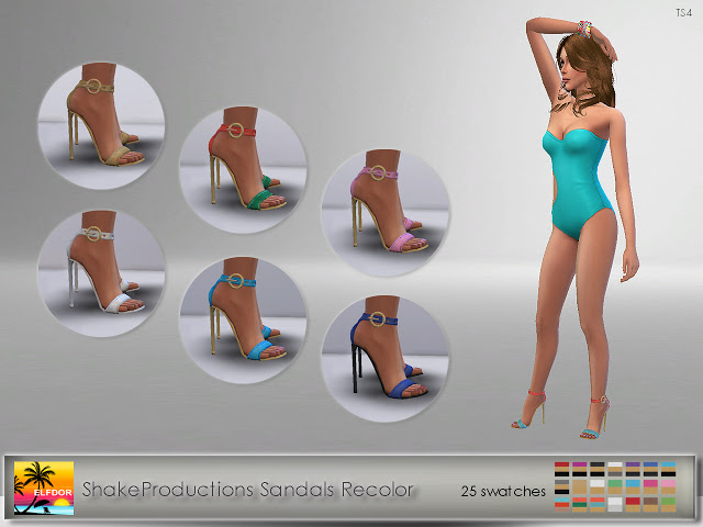Sandals Recolor at Elfdor Sims image 746 Sims 4 Updates