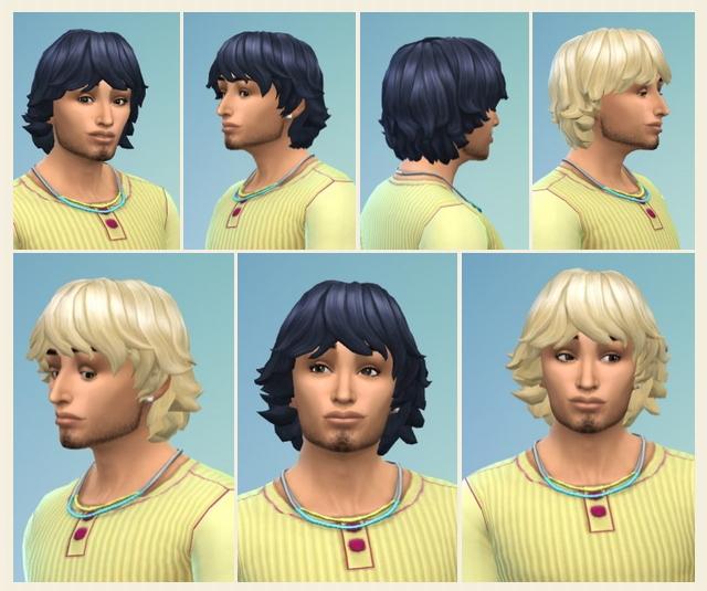Sims 4 Men's Fuzzy Hair at Birksches Sims Blog