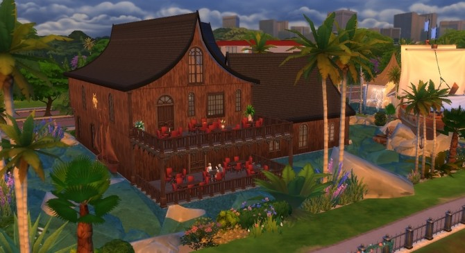 Sims 4 Tortuga Bay Restaurant by ArtyCutie at Mod The Sims