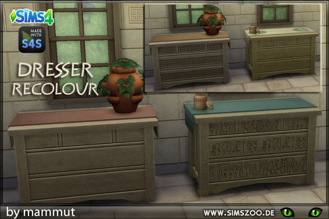 Sims 4 Dresser EarlyCiv1 by mammut at Blacky's Sims Zoo