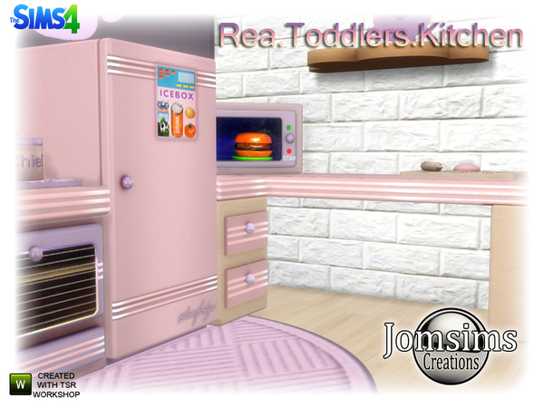 Rea Toddlers Kitchen by jomsims at TSR image 760 Sims 4 Updates