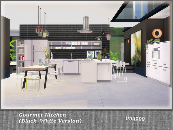 Gourmet Kitchen Black and White Version by ung999 at TSR image 762 Sims 4 Updates