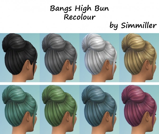 High Bun with Bangs Recolour by Simmiller at Mod The Sims image 769 670x566 Sims 4 Updates
