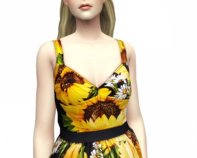 Sunflower dress 5 colors at Rusty Nail image 7711 670x536 Sims 4 Updates