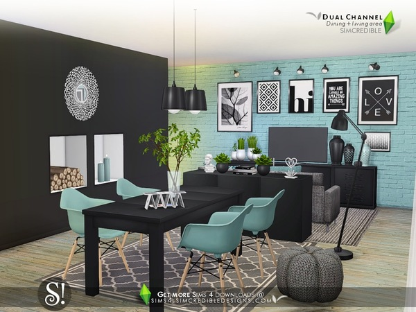Dual Channel diningroom by SIMcredible at TSR image 780 Sims 4 Updates