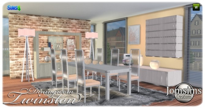 Twinston diningroom at Jomsims Creations image 7814 670x355 Sims 4 Updates