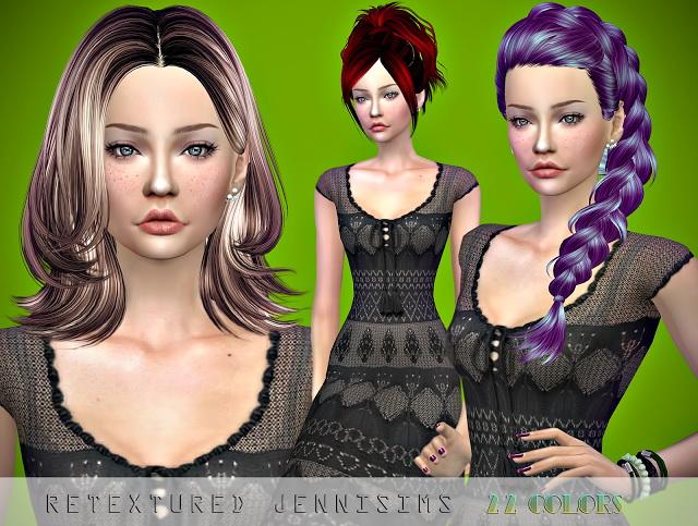 Sims 4 Skysims 120,132,190 Hairs retextures at Jenni Sims