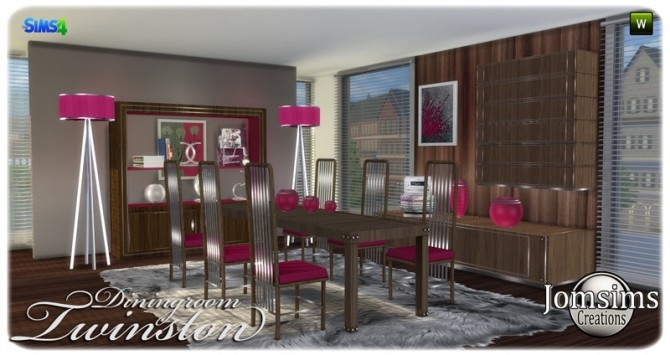 Twinston diningroom at Jomsims Creations image 7915 670x355 Sims 4 Updates