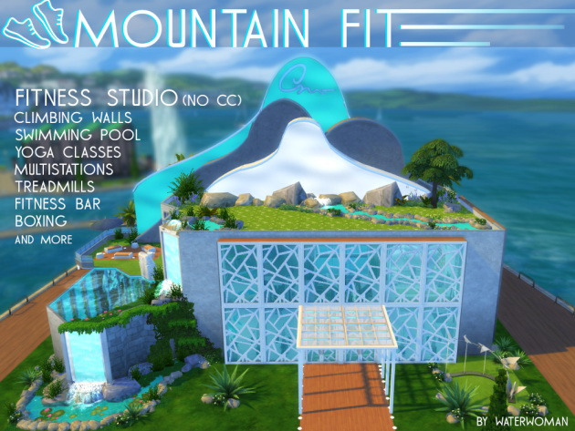 Sims 4 Mountain Fit house by Waterwoman at Akisima