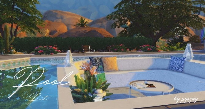 Pool pit set at pyszny design sims 4 updates for Pool designs sims 4