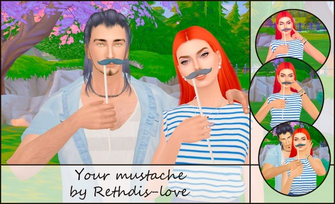 Your mustache poses at Rethdis love image 8100 670x408 Sims 4 Updates