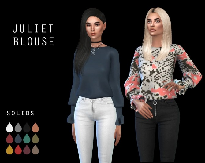 Sims 4 Juliet Blouse at Leo Sims