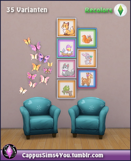 Sims 4 Kids Art at CappusSims4You