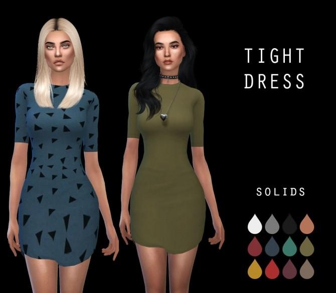 Sims 4 Tight Dress RC 2 at Leo Sims