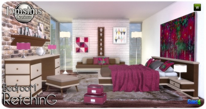 Retching bedroom at Jomsims Creations image 8212 670x355 Sims 4 Updates