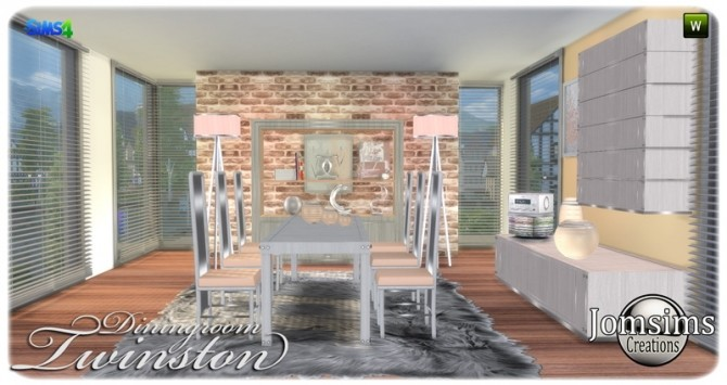 Twinston diningroom at Jomsims Creations image 8215 670x355 Sims 4 Updates