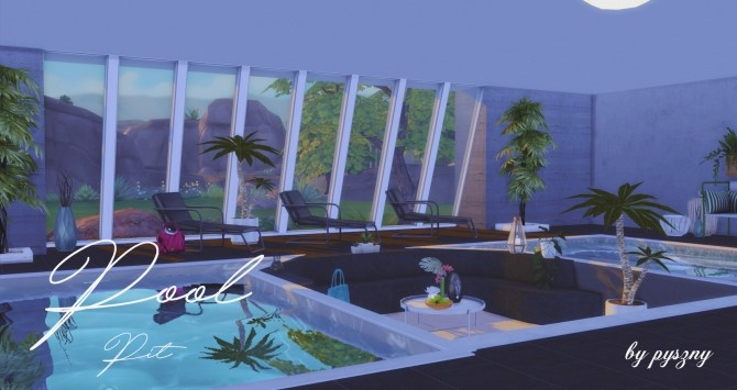 Pool pit set at pyszny design sims 4 updates for Pool design sims 4