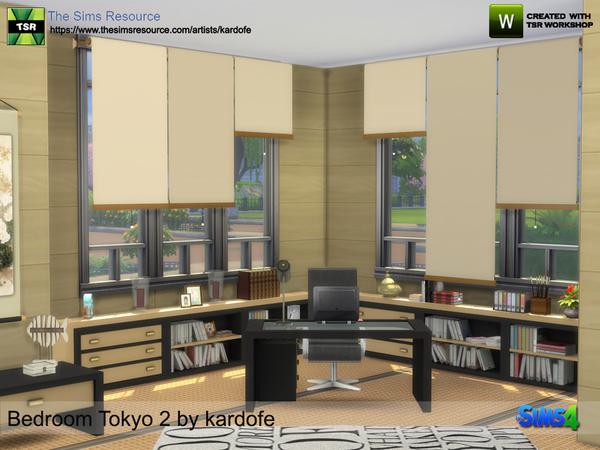 Bedroom Tokyo 2 by kardofe at TSR image 826 Sims 4 Updates