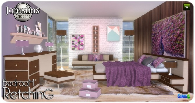Retching bedroom at Jomsims Creations image 8311 670x355 Sims 4 Updates