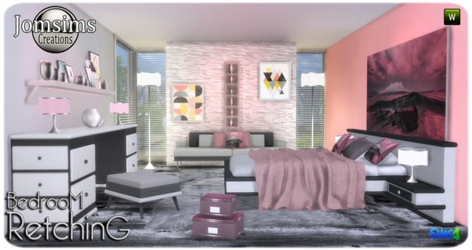 Retching bedroom at Jomsims Creations image 8410 670x355 Sims 4 Updates