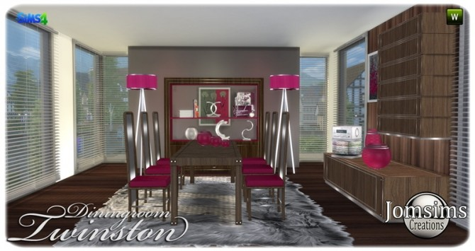 Twinston diningroom at Jomsims Creations image 8414 670x355 Sims 4 Updates