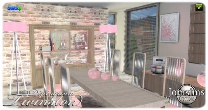 Twinston diningroom at Jomsims Creations image 8514 670x355 Sims 4 Updates