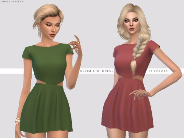 Scomiche Dress by Christopher067 at TSR image 852 Sims 4 Updates