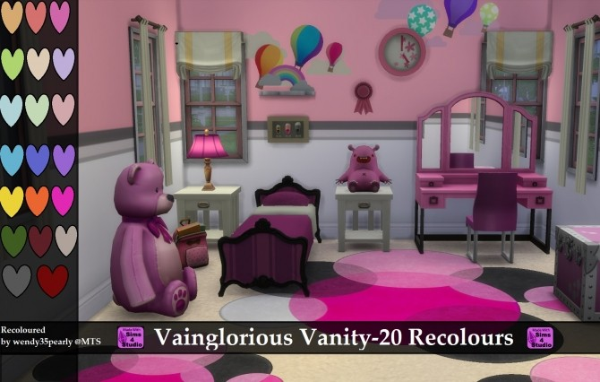 Sims 4 Vainglorious Vanity 20 Recolours by wendy35pearly at Mod The Sims