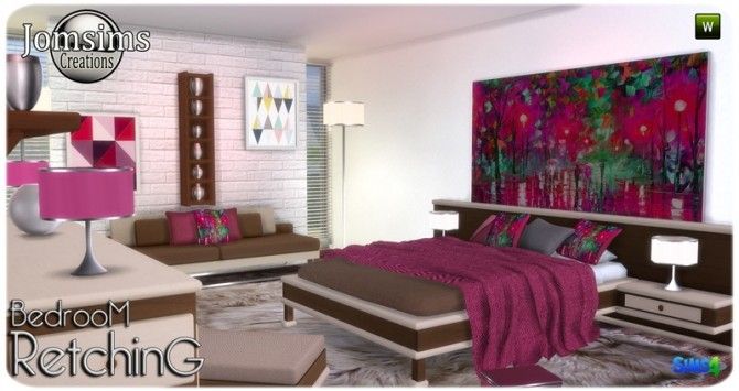 Retching bedroom at Jomsims Creations image 8610 670x355 Sims 4 Updates
