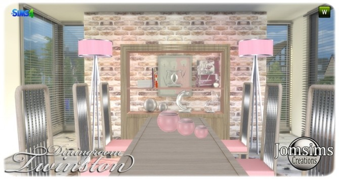 Twinston diningroom at Jomsims Creations image 8613 670x355 Sims 4 Updates