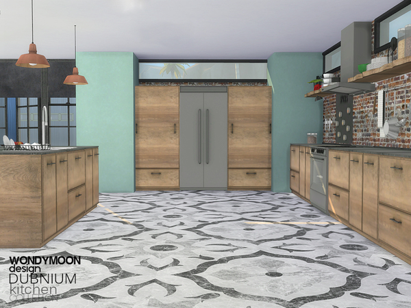 Sims 4 Dubnium Kitchen by wondymoon at TSR