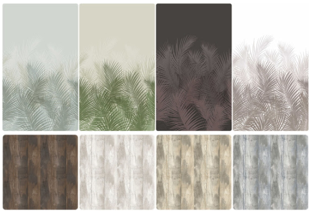 Sims 4 Wood Floors and Palm Wallpapers at Helen Sims