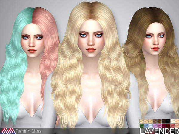 Lavender hair 35 by TsminhSims at TSR image 88 Sims 4 Updates